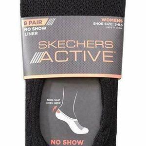 Skechers Accessories - Skechers 8 Pair Womens No Show Liner
